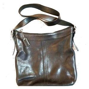 Authentic Black Coach Shoulder Bag
